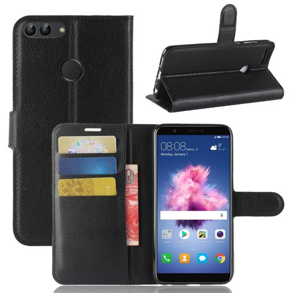 For Huawei P Smart Case Huawei P Smart Case Luxury Wallet PU Leather Cover Flip Phone Case For Huawei P Smart PSmart 5.65 inch