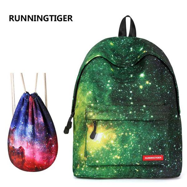New 2018 Backpack For Girls Fashion Starry Sky Print College Student School Backpack Teenagers Girls Women Travel Shoulder Bag
