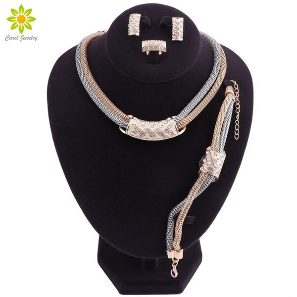 Jewelry Sets For Women Bridesmaid Crystal African Beads Jewelry Set Gold Color Ethiopian Wedding Jewellery
