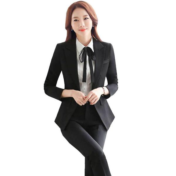nuevo 2017 mujeres trajes de pantalón para las señoras de la boda juego de pantalón pantalones azules diseños de marca de negocios oficina trabajo chaqueta femenina 129