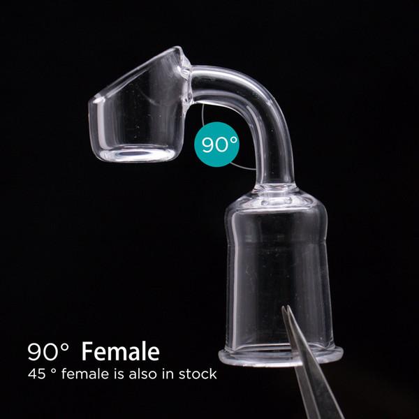 Günstige Klar Echt Quarz Banger Nagel 3mm Tasse Dick 45 Grad 18mm Joint Weibliche Domeless Quarz Banger Öleimer Für Silikon Wasserleitungen