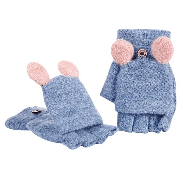Fingerless Thicken Hot Girls Women Ladies Hand Wrist Warmer Winter Gloves Mitten AUG17