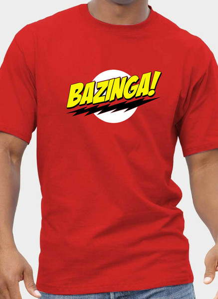 Mens + Womens BIG BANG THEORIE Inspiriert BAZINGA T-Shirt bis zu 5XL GRATIS UK POST