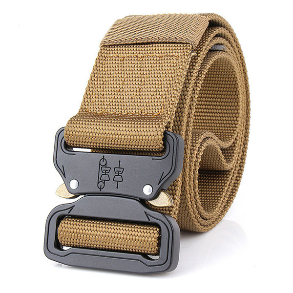 tactical belt 4.5CM*125CM Metal insert buckle unisex Training Nylon belts for Men Male High quality strap on sale