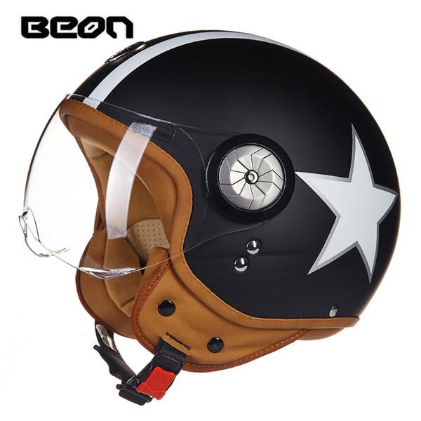 2016 vintage Motorcycle helmet capacete motorcycles motorbike helmet DOT approved summer half helmets casco motorcycle Beon-110