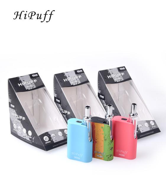 Ciggo Hipuff Mini Kit Starter Kit Embutido 650mAh Bateria Vape Caixa Mod Kit Top Enchimento 1.0 ml Coil Cerâmica Espessura Cartucho De Óleo Tanque