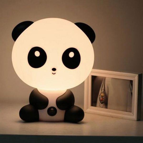 LED Nightlight Cartoon Animal Night Light Cute Panda Lampada da tavolo per bambini Camera da letto LED Night Lamp