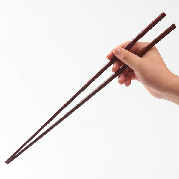 Wooden Long Chopsticks 42CM Fried Food Noodles Clamp Wooden Chopsticks Home Kitchen Cooking Tools Free Shipping ZA6969