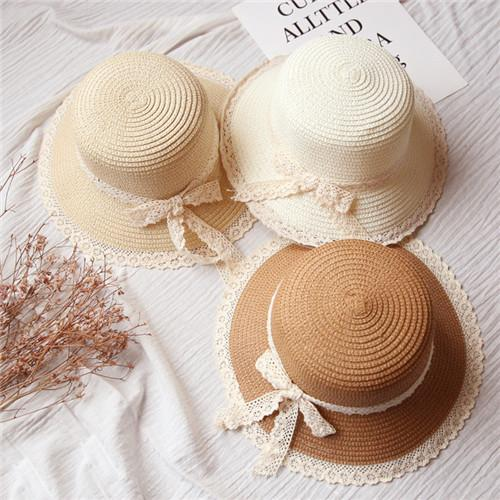 2018 Brand New Girl Children's Eaves Hat Korean Version of Spring and Summer Baby Hand-made Witch Steeple Hat