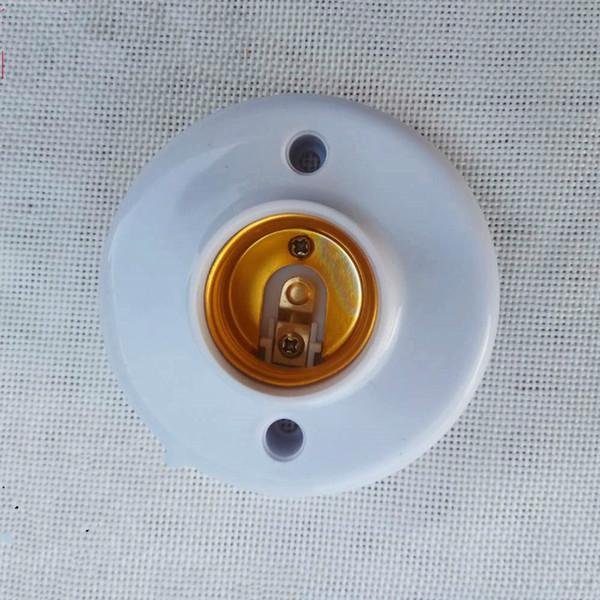 E27 Screw Type Base Lamp Holder Socket Fitting For Lights Bulb Spotlight CFL Halogen Lighting 220V110V Round Free Shipping Drop Ship