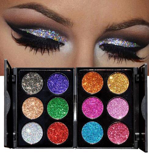 Nueva llegada Diamante Golden Color Glitter Paleta de sombras de ojos Shiny Eyeshadow Palette Makeup To Faced Cosmetics