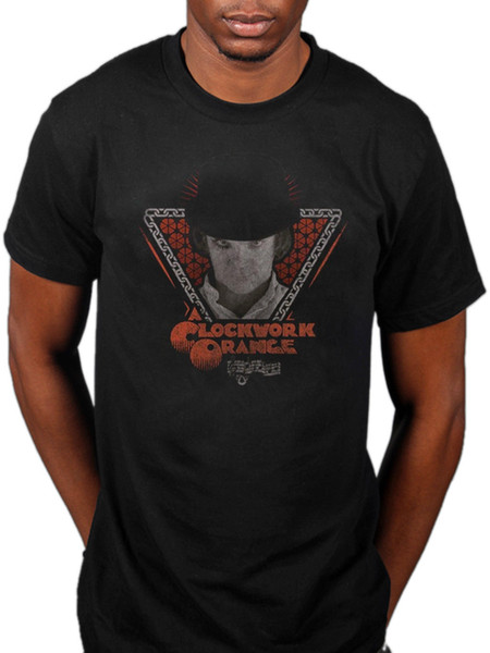 Official A Clockwork Orange Triangle T-Shirt Alex Droogs Dr BrodskyPure Cotton Round Collar Men top tee