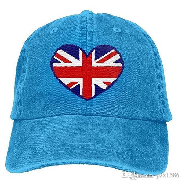 pzx@ Baseball Cap For Men Women, British Flag Unisex Cotton Adjustable Jeans Cap Hat Multi-color optional