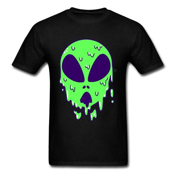 Art Skull Design Green Tshirt 3D Digital Men's High Quality Fashion Mask T-Shirts Goopy Alien 100% Cotton Awesome T Shirt