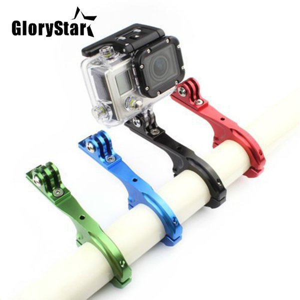 Aluminum Bike Bicycle Handlebar Bar Clamp Mount Holder Adapter Standard 31-31.8mm For Gopro Hero 2 3 3+ 4 5 6 7 xiaomi yi sport Camera