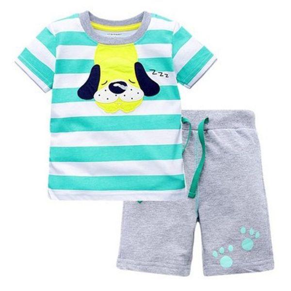 Baby Boys fashion Summer Clothing Sets Kids New Digital Print T-Shirt + Shorts 2PCS Suits Children's Cartoon Dog Clothes