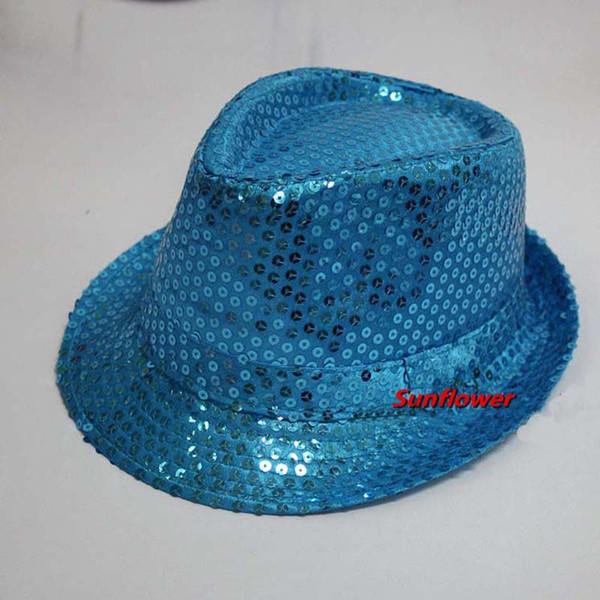 d5e6d0ca55e71e 2018 Sequin Trilby Fedora Hat Cap Mens Women Ladies Unisex Jazz Hat Cap  Party Favors Wedding