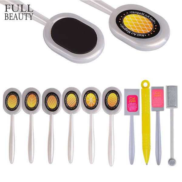 gel effect Full Beauty 1Pc Nail Art Magnet Stick Pen Magical 3D Cat Eye Double-headed Gel Effect Strong Designs Manicure Polish Tools CH406