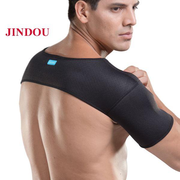 Protège-épaules élastiques Support protecteur Bandage d'épaule élastique Sports Protecteur respirant à l'arrière