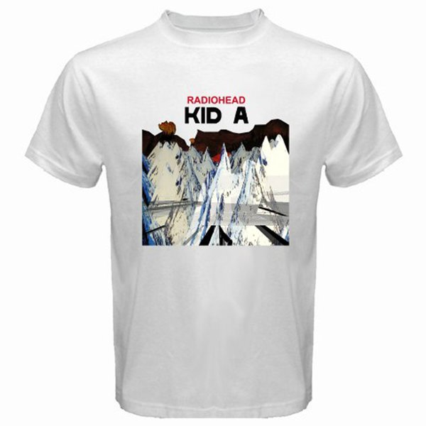 2018 Best T Shirts New RADIOHEAD KID A Ro Band Loo Men's White T-Shirt Size S to 3XL Funny Cotton Short Sleeve Shirts For Men