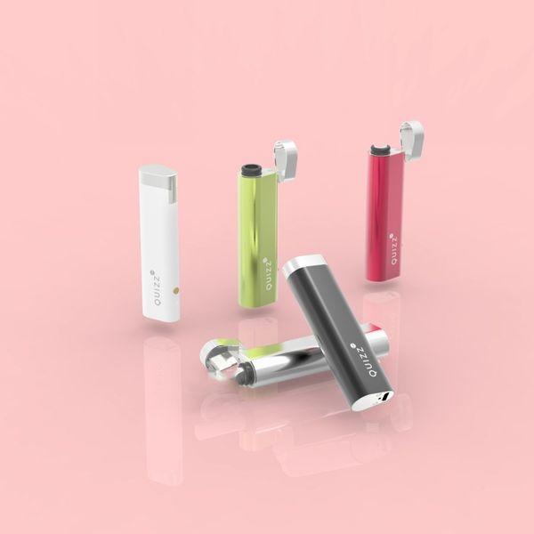 Новые электронные сигареты Аутентичные 650mAh Quizz Vape комплект встроенный аккумулятор Starter Kit 2мл Трехуровневый питания дисплея и 100% оригинал