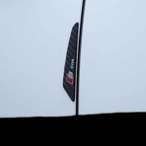 Углеродного волокна двери автомобиля протектор предотвращения столкновения полосы боковые наклейки для Audi A1 A4 A5 A3 A6 A8 A7 Q3 Q5 Q7 80 C5 C6 C7 TT B1 B2 B3 B4 B5 B6