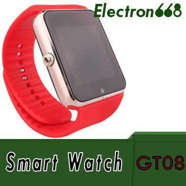 2018 Son GT08 Smartwatch A1 DZ09 U8 Samsung Galaxy Android Smartphone için Bluetooth Akıllı Izle telefonu Adımsayar Uyku Izleme