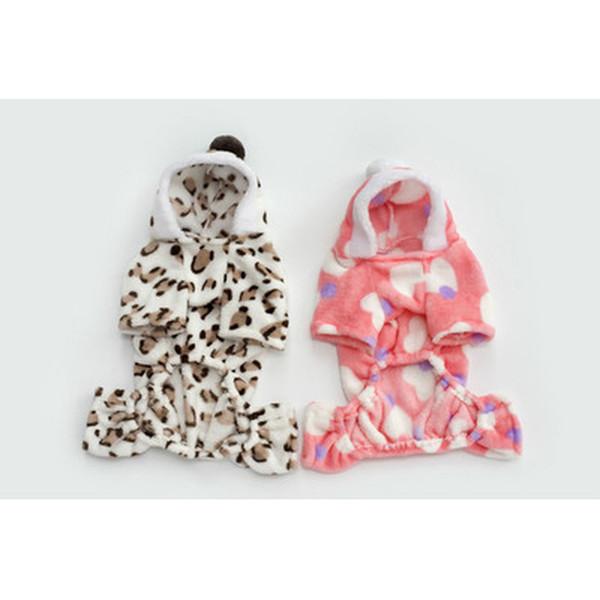 Fleece Dog Hoodies women Autumn winter Wear Pet jumpsuit warm Pet dog Clothes Clothing for Dogs Small dog Four Leg Hoodie