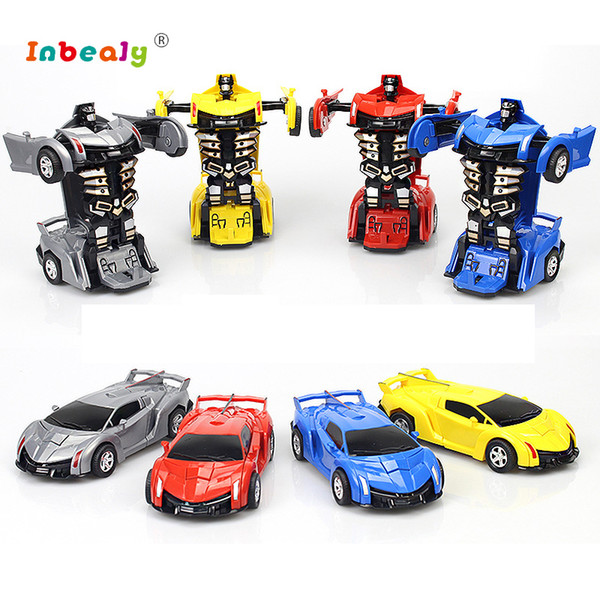 Transformación Robots RC Car Sports Car modelos de colisión Deformación Classic RC Robots Niños Juguetes Regalos de cumpleaños para niños
