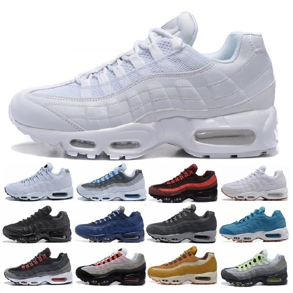 Men Retro 95 OG Cushion Navy Sport High-Quality Chaussure 95s Walking Boots Men Running Shoes Cushion 95 Sneakers Air Size 36-45