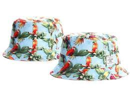 New Designer Parrot Print Cayler Sons Cubiertas de cubo para mujeres para hombres Gorras de pesca plegables Black Fisherman Beach Sun Visor Venta Hombre TYMY 11