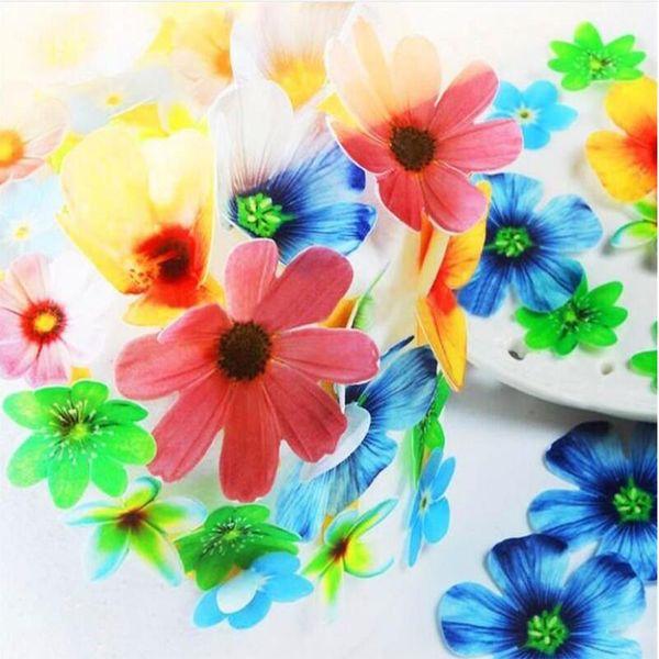 Compre 37 Unids Set Flores Comestibles Para Decoraciones De Pastel Decoración De La Idea De La Torta De La Flor De La Oblea Papel Comestible Para