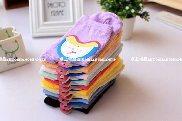 Womens Casual Cotton Socks Solid Style Casual Cute Candy 10pairs /Lot Mix Color Hot Sale In Autumn Winter