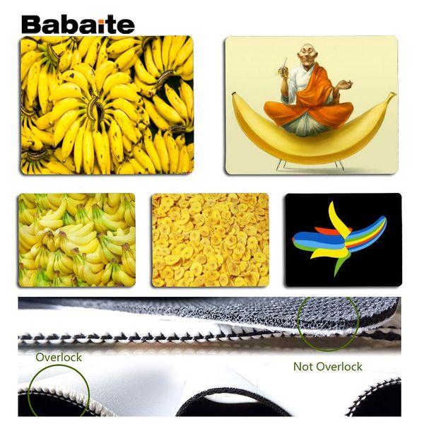 Babaite Cool New Banana Pad in silicone per mouse dimensioni del gioco per 18x22cm Mousemats in gomma 25x29cm