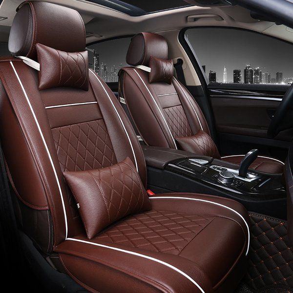 Car Travel leather seat cover four seasons Universal Car Seat Covers for Vehicles mazda 3 6 toyota RAV4 Hyundai volvo ford seat covers