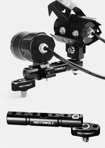 MOTOWOLF Nuevo Universal Mirror Extension Brackets Postes de extensión Soporte de teléfono móvil MDL3501 Accesorio de motocicletas