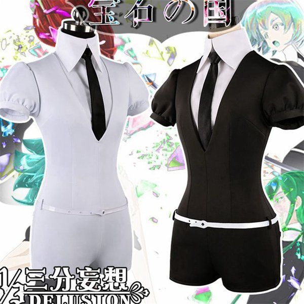 Anime High quality Houseki no Kuni Phosphophyllite Antarctic Diamond Bort bodysuit Cosplay Costumes Accessories Jumpsuits
