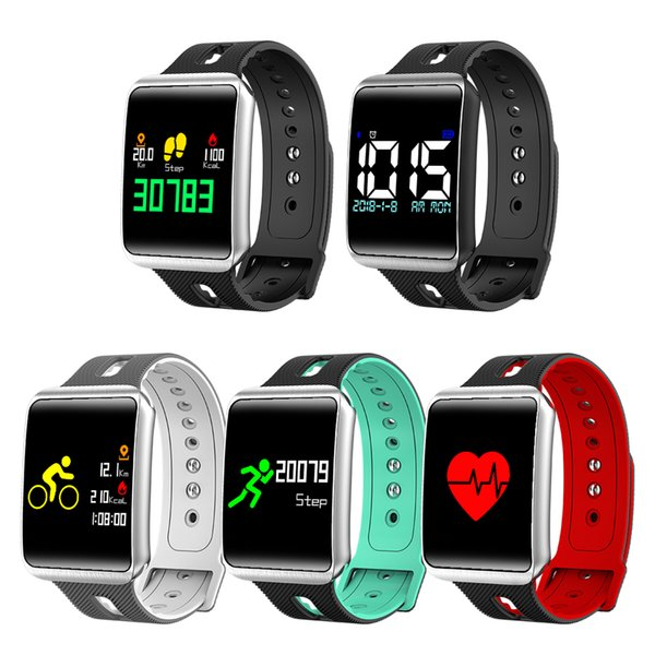 TF1 Rubber Smart Bracelet Wristbands IOS Android Social App Reminder Sleep Health Tracker Monitor Camera Remote Watch