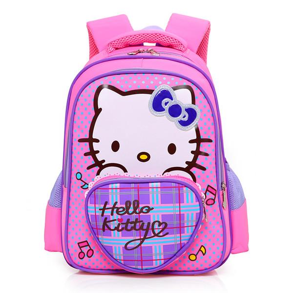 Cartoon Hello Kitty Schoolbag Cute Backpack Children School Bags For Girls  Mini Kids Book Bags Kindergarten Cat Satchel Mochila Computer Backpacks