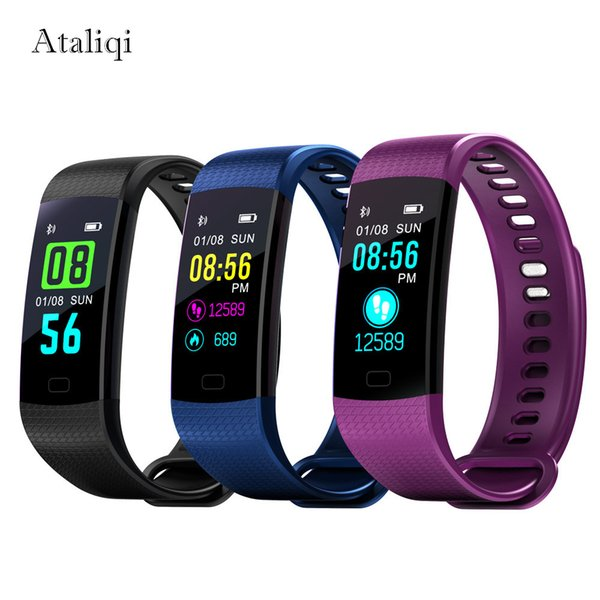 Smart Band Watch Color Screen Wristband Blood pressure Bracelet Heart Rate Activity Fitness tracker Smartband PK ID115 Miband 2