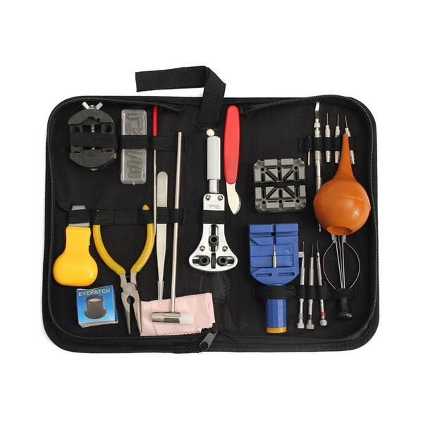 22PCS Berufsuhr-Reparatur-Werkzeug-Installationssatz mit Aufbewahrungsbeutel-Vergrößerungsglas-Kasten-Halter-Band-Halter-Kasten-Öffnungs-Messer-Satz