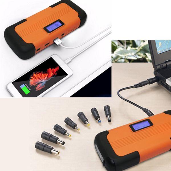 12V 82800mAh Pantalla LCD Car Jump Starter Salida USB Carga rápida Batería Banco de la energía Cargador de coche multifunción Venta caliente