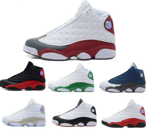 Дизайнерские туфли 13s Bred Chicago Flints Мужчины Женщины Баскетбольные кроссовки 13s DMP Grey