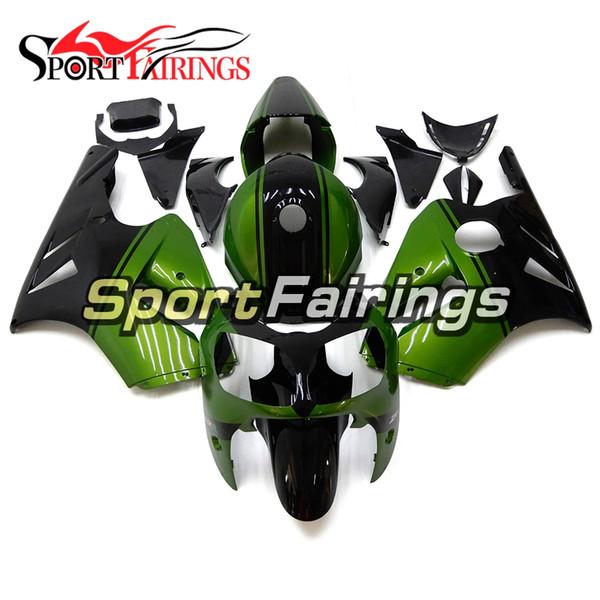 Yeni Varış ZX-12R 2011 2000 Motosiklet ZX-12R 00-01 Yıl 2000 Komple Için Kaporta Kiti 2001 Vücut Kiti Yeşil Siyah ABS Plastik Kaporta Kiti