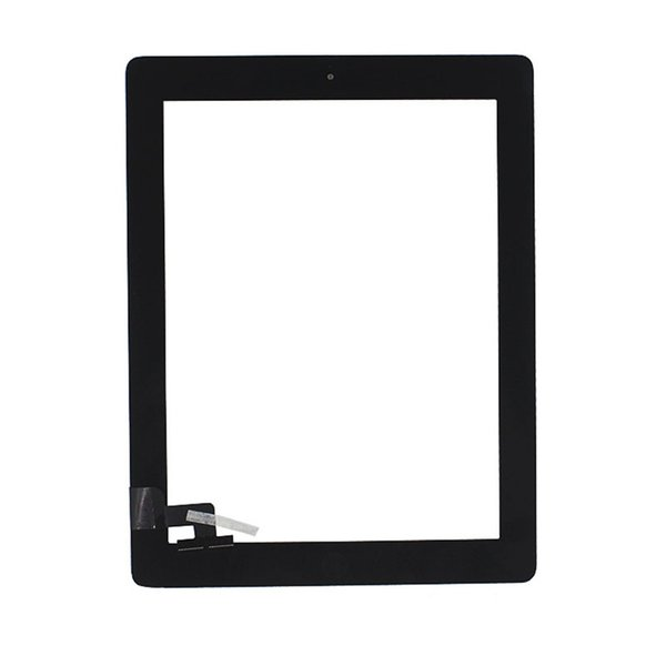 KEFU 5 Piece / lot Tablet Touch Screen for Ipad 2 Glass Panel with Home Button + Tools Gift