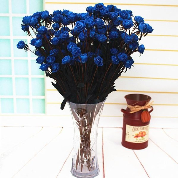 Pastoral style 15 Heads/Bouquet Roses with Silk flower heads 65 cm Artificial flowers Silk Flower For Wedding/House Decoration