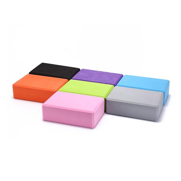 1PCS EVA Foam Yoga Block Brick Pilates Sports Exercise Gym Workout Stretching Aid Body Shaping Health Training 7 Colors