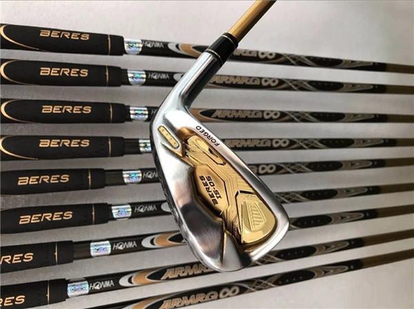 Mazze da golf Honma Golf Set ferro 4 stelle Honma IS-05 Ferri 4-11AwSw (10 pezzi) R / S / SR Flex ARMRQ albero grafite con coperchio testate