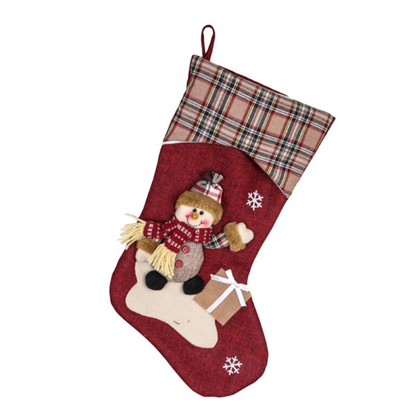 Classic Christmas Stockings Cute Toys Stockings Candy Socks Gifts Bag Christmas Tree Hanging Xmas Decoration