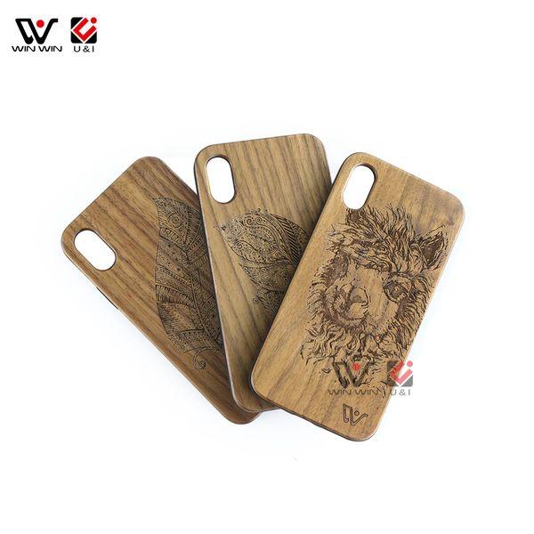деревянные чехлы для мобильных телефонов для iPhone x 6 6s s 7 8, оригинальные красочные чехлы для мобильных телефонов для i Phone Apple 10